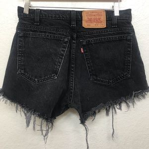 "Levis 550 VINTAGE High Waisted Denim Shorts 29"""